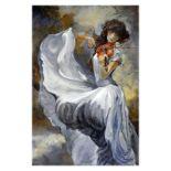 """Lena Sotskova, """"Moonlight"""" Hand Signed, Artist Embellished Limited Edition Gicle"""