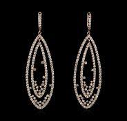 14KT Rose Gold 3.75 ctw Diamond Earrings
