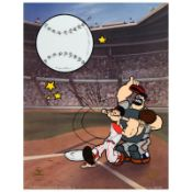 """""""Homerun Popeye, Reds"""" Limited Edition Sericel from King Features Syndicate, Inc"""