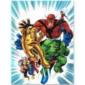 "Marvel Comics ""Avengers #1 1/2"" Numbered Limited Edition Giclee on Canvas by Bru"