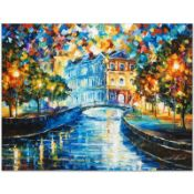 "Leonid Afremov (1955-2019) ""House on the Hill"" Limited Edition Giclee on Canvas,"