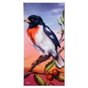 """Rose Breasted Grosbeak"" Limited Edition Giclee on Canvas by Martin Katon, Numbe"