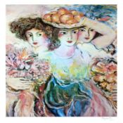 """""""Three Women"""" Limited Edition Lithograph by Zamy Steynovitz (1951-2000), Numbere"""