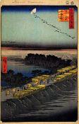 Hiroshige - Nihon Embankment