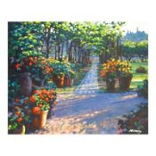 "Howard Behrens (1933-2014), ""Siena Arbor"" Limited Edition on Canvas, Numbered an"