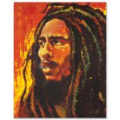 """Bob Marley"" Limited Edition Giclee on Canvas by Stephen Fishwick, Numbered and"