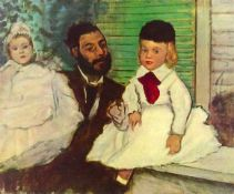 Edgar Degas - Portrait Of Count Lepic And His Daughters