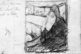 Mary Cassatt - Sketch (In The Opera)