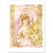 """Flora"" Limited Edition Lithograph by Edna Hibel (1917-2014), Numbered and Hand"