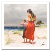 "Pino (1931-2010), ""Beach Walk"" Limited Edition on Canvas, Numbered and Hand Sign"