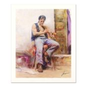 """Pino (1939-2010) """"Music Lover"""" Limited Edition Giclee. Numbered and Hand Signed;"""