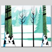 """""""Winter"""" Limited Edition Giclee on Canvas by Larissa Holt, Numbered and Signed."""