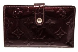Louis Vuitton Amarante Monogram Vernis Leather French Wallet