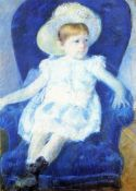 Mary Cassatt - Elsie In A Blue Chair 1880