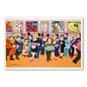 """Yuval Mahler, """"Opening Day"""" Hand Signed Limited Edition Serigraph on Paper with"""