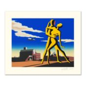 """Mark Kostabi, """"Yesterday's Here"""" Limited Edition Serigraph, Numbered and Hand Si"""