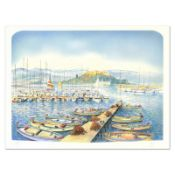 """Rolf Rafflewski, """"Docks"""" Limited Edition Lithograph, Numbered and Hand Signed."""