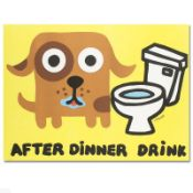 """""""After Dinner Drink"""" Limited Edition Lithograph by Todd Goldman, Numbered and Ha"""