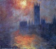 Claude Monet - The Houses of Parliament, Sunset