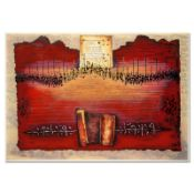 """Moshe Castel, """"Land of Canaan"""" Limited Edition Gold Embossed Serigraph with Lett"""