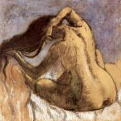 Edgar Degas - Female Combing Hair