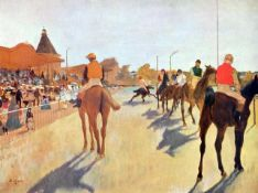 Edgar Degas - Jockeys In Front Of The Grandstand