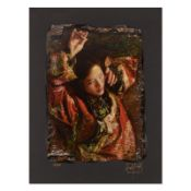 """George Tsui, """"Red Butterfly"""" Limited Edition Chiarograph, Numbered and Hand Sign"""