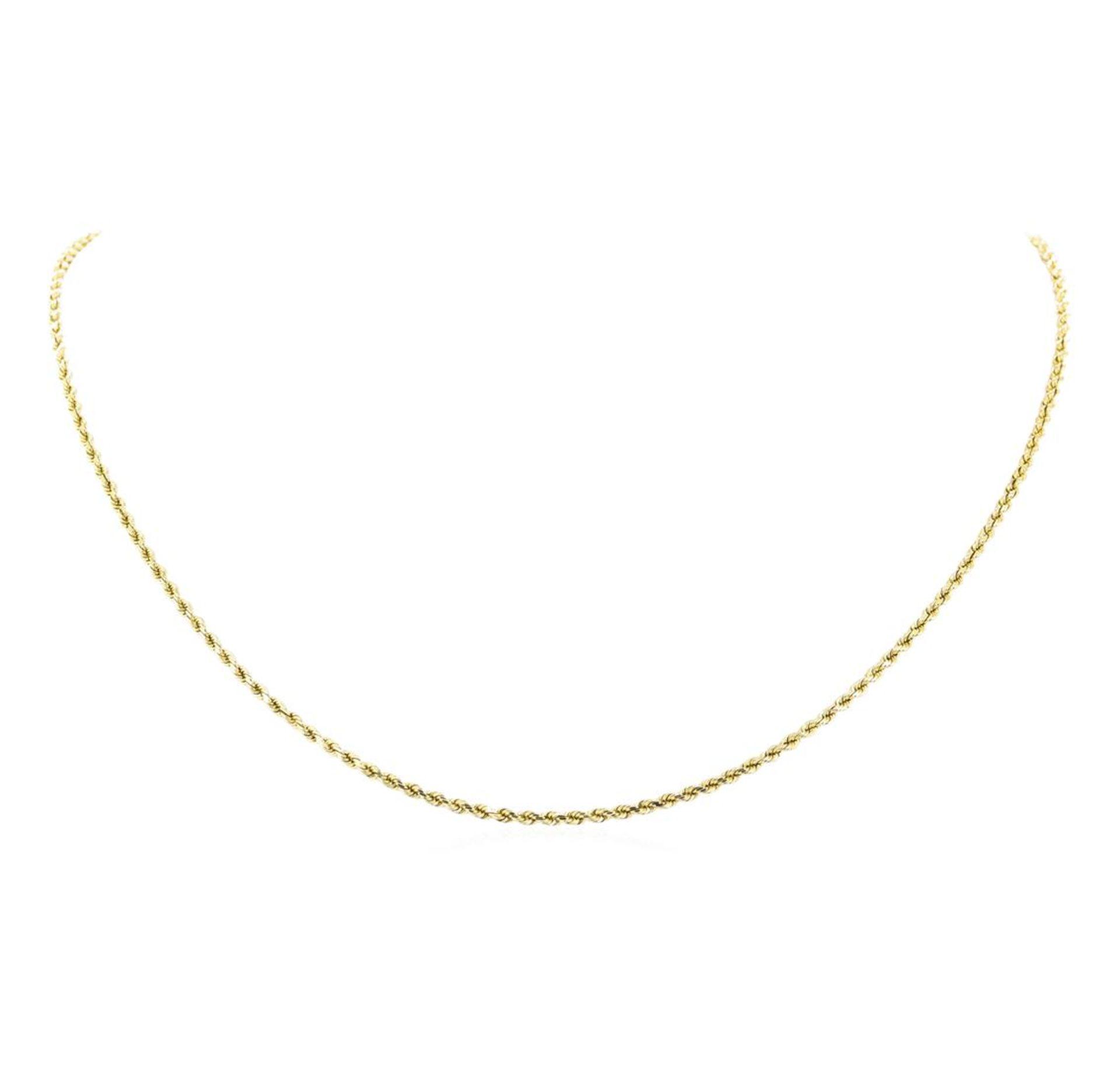 Twenty Inch Rope Chain - 14KT Yellow Gold