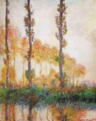 Claude Monet - Poplars in Autumn II