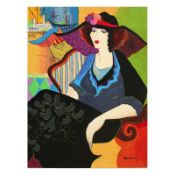 "Patricia Govezensky, ""Marina Tel Aviv"" Hand Signed Limited Edition Serigraph wit"