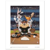 """At the Plate (Astros)"" Numbered Limited Edition Giclee from Warner Bros. with C"