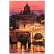 "Howard Behrens (1933-2014), ""Sunset Over St. Peter's"" Limited Edition Hand Embel"