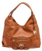 Michael Kors Orange Leather Austin large Shoulder Bag