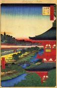 Hiroshige - Zojoji Pagoda