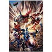 """Marvel Comics """"Avengers #12.1"""" Numbered Limited Edition Giclee on Canvas by Brya"""