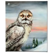 """""""Snow Owl in Alaska"""" Limited Edition Giclee on Canvas by Martin Katon, Numbered"""