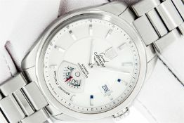 TAG Heuer Mens Stainless Steel Silver Dial Grand Carrera 40mm Wristwatch Polishe