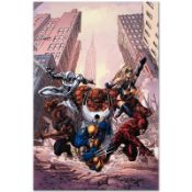 """Marvel Comics """"New Avengers #17"""" Numbered Limited Edition Giclee on Canvas by Mi"""