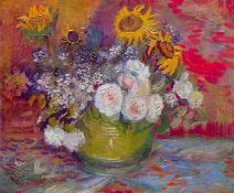 Van Gogh - Still-Life With Roses And Sunflowers
