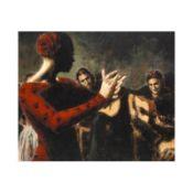 "Fabian Perez, ""Study Tablado Flamenco V"" Hand Textured Limited Edition Giclee on"