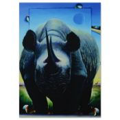 Rhino on the Move by Ferjo