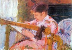 Mary Cassatt - Lydia At The Cord Framework