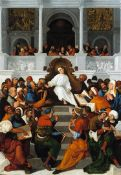 Ludovico Mazzolino - The Twelve Year Old Christ Teaching in the Temple