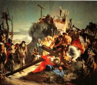 Giovanni Battista Tiepolo- Jesus Carrying the Cross