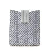 Gucci Silver Leather Microguccissima iPad Case