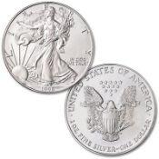 1996 American Silver Eagle .999 Fine Silver Dollar Coin