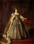 Louis Caravaque - Portrait of Empress Anna Ioannovna
