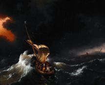 Ludolf Backhuysen - Christ in the Storm on the Sea of Galilee
