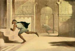 William Rimmer - Flight and Pursuit