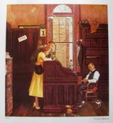 """Norman Rockwell """"Marriage Contract"""""""